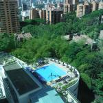 View from window overlooking pool, room 1711