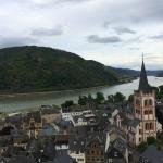 Bacharach Hof is the yellow building in the village