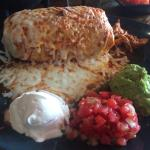 Wet Burrito con Rojo - huge! But delicious & still great as leftovers