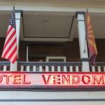 Front sign of Hotel Vendome