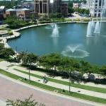 Fountains in lake