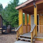 Front porch and 2 bedroom cabin