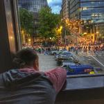 Torchlight Parade 2015 View from 5th Floor