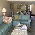 Beach themed living room and dining area #7205