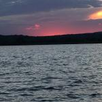 A short walk across the street to watch the sunset on Tupper Lake