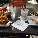Lunch near the pool