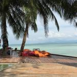 Pool side with amazing view of Koh Samui