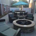 Fire pit/cookout area
