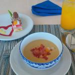 Soup with dessert