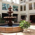 Fountain atrium near business center