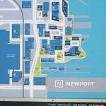 Newport area map