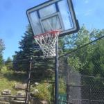 Broken basketball net