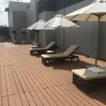 Sun Bathing Chairs at Roof Top