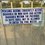 Weird Pool Sign