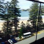 View of Manly Beach from balcony of Novotel