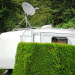Satillite dish tripod on the roof of 5th wheel?