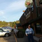If you stop by the Silver Fork Lodge and Restaurant, if the weather permits, be sure to ask for
