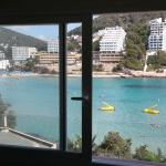 View from bedroom window - 1 bedroom apartment with sea view