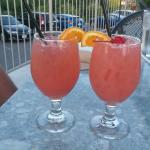 Schula's Sunset specialty drink! YUMMY!