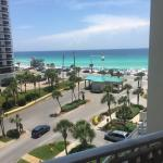 This is what a partial view of the gulf looks like from a 2 bedroom deluxe!!! So beautiful!
