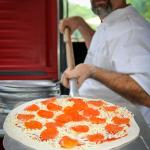 Wood-fired pizza by the Lake