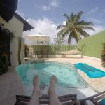 Rondoval back yard pool and hammock (Jacuzzi is behind this camera as well as outdoor shower)
