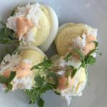 deviled eggs with crab