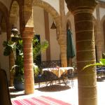 In the hall of Riad Al Madina