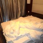 The state of the room we 'checked in' to. Disgusting room. Really poor management.