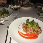Chef's wonderful seared tuna with special sauce