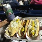 50 cent hot dog night at the Tides baseball game!