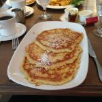 Pancakes in the restaurant