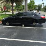 Wheels stolen in the East side parking lot of this hotel!
