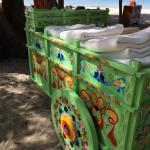 Towel cart on beach