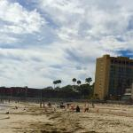 Looking at the hotel from the beach