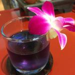 Welcome tea made of bluepea flower