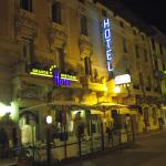 Front of Hotel at night