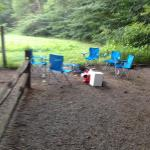 Campsite fire pit and chairs!