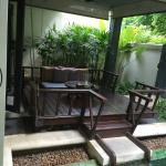 Outdoor seating area/deck