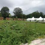 Wedding marquee in the walled garden