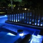 Night View of the Swim-Up Junior Suite