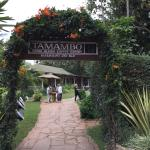 The entrance to the restaurant.