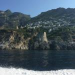 view of Praiano from boat