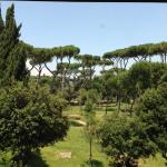View of the Borghese Gardens from guest room.