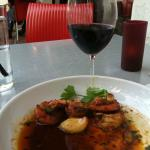 shrimp with garlic and a nice Grenache. The BEST!