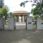 Main entrance to Parque Morazan - view from street