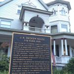 Hotel and historical marker