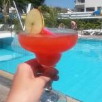 Happy hour Strawberry Daiquiri by the pool!