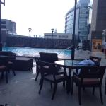 5th floor rooftop heated pool on Temple Tower - nice place to chill at night and catch the breez