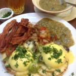 Eggs Benedict with Green Chili